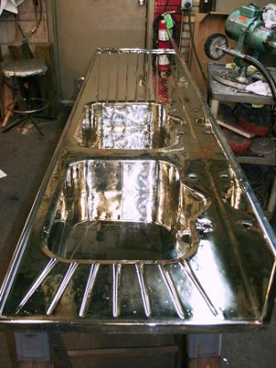 custom german silver sink